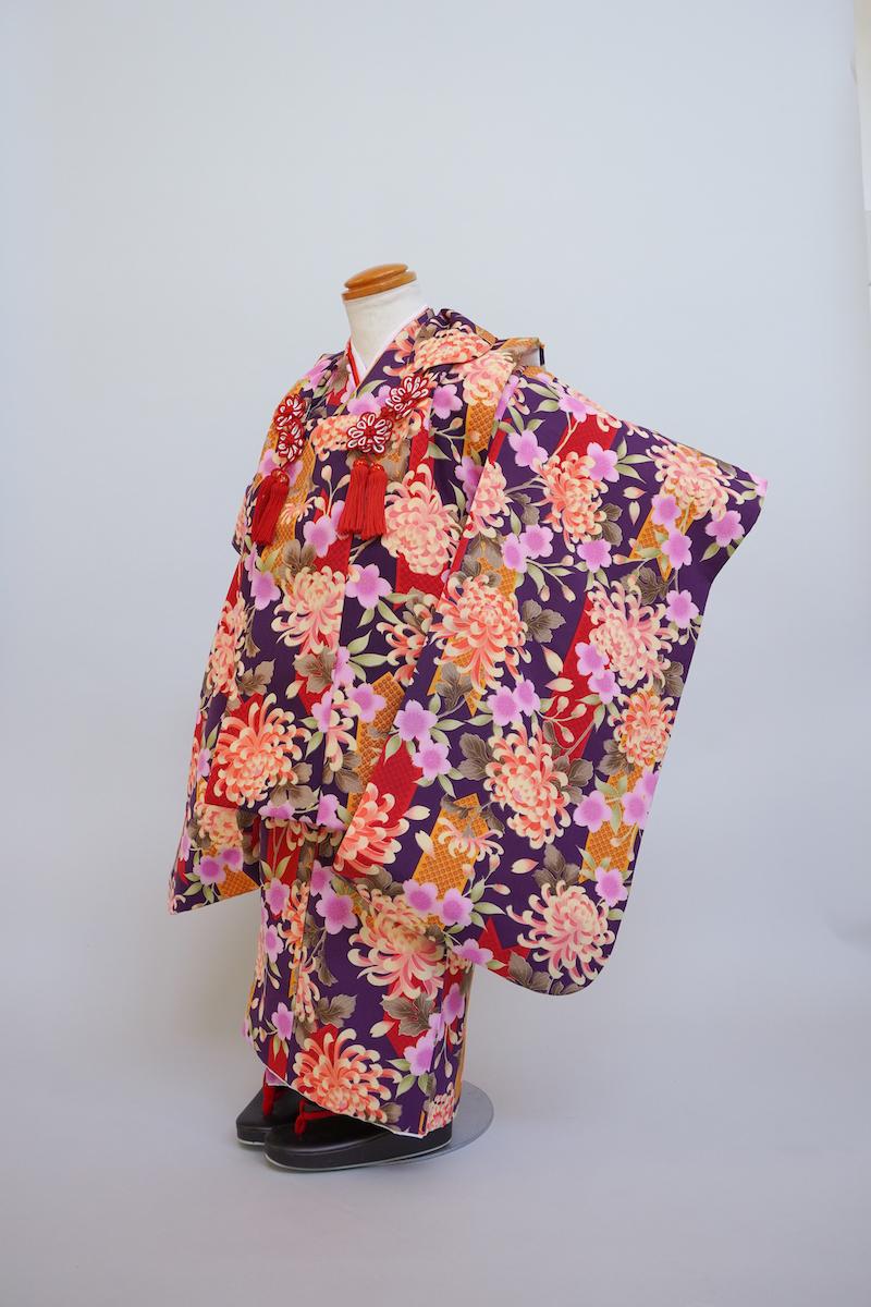紫蘭菊桜総柄