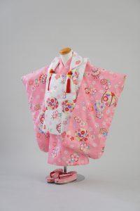3歳女の子 白ピンク桜手まり
