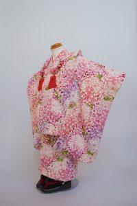 3歳女の子 ピンク乱菊総柄
