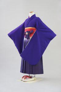 7歳女の子 袴セット 紫花紋