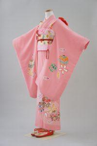 7歳女の子 正絹 ピンク手毬
