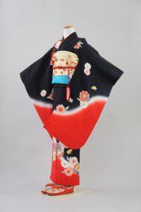 7歳女の子 正絹 赤ぼかし手毬