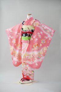 7歳女の子 ピンク百日草