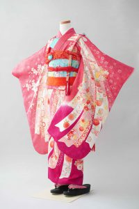 7歳女の子 ピンク桜熨斗目