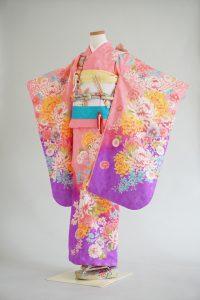7歳女の子 ピンク裾紫彩葉